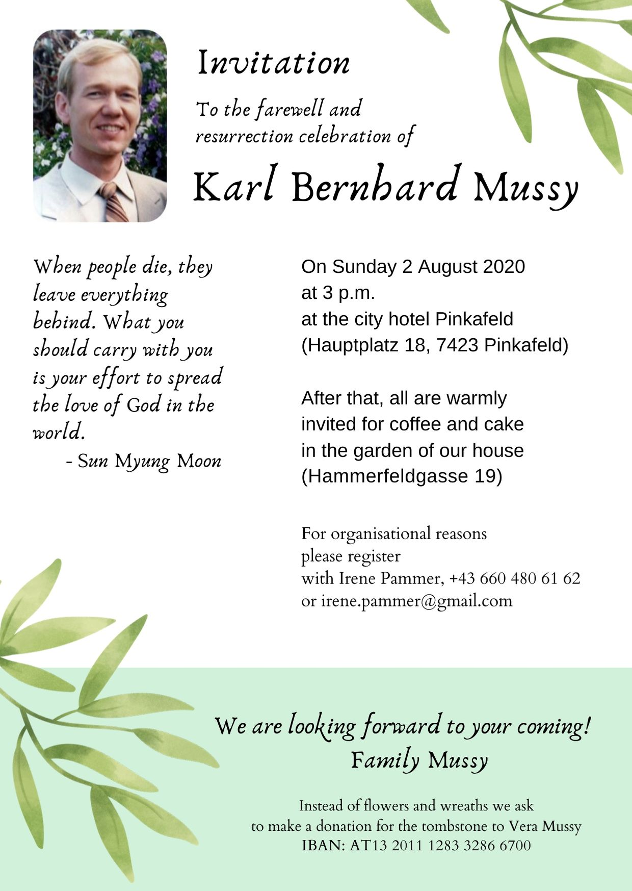 Invitation Seungwha Karl Mussy